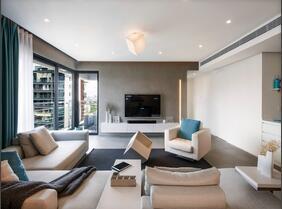 150平简约两居室装修效果图  宽敞大气