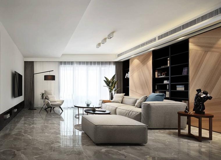 三观很正的复式装修布艺沙发图片
