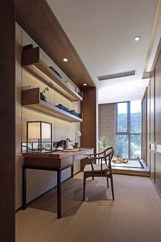 新中式装修让家更温馨书房效果图