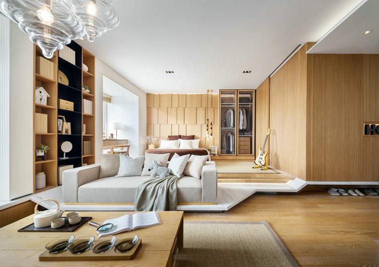 48平的超棒小户型布艺沙发图片