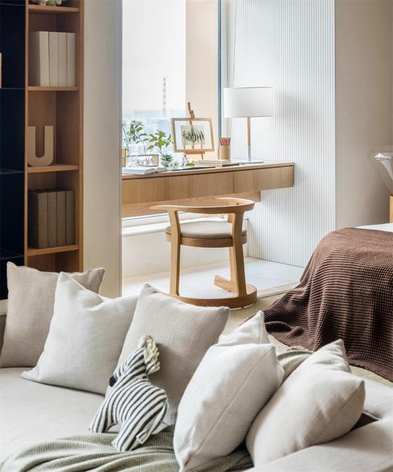 48平的超棒小户型布艺沙发效果图