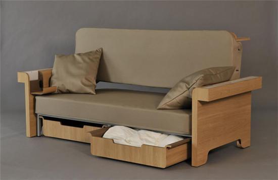 优乐国际里有款多功能沙发 相当于多了一间屋子
