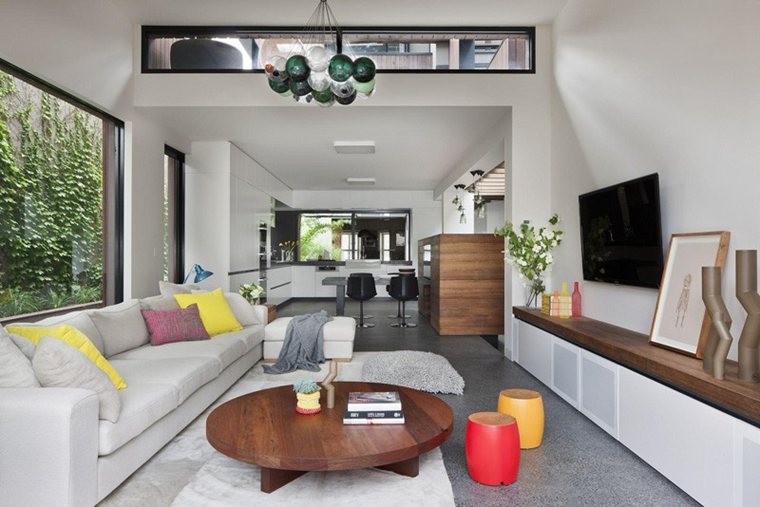 舒适别墅装修客厅布艺沙发图片