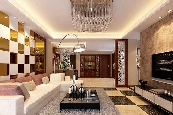 客厅水晶灯图片 水晶灯轻奢客厅装饰图片