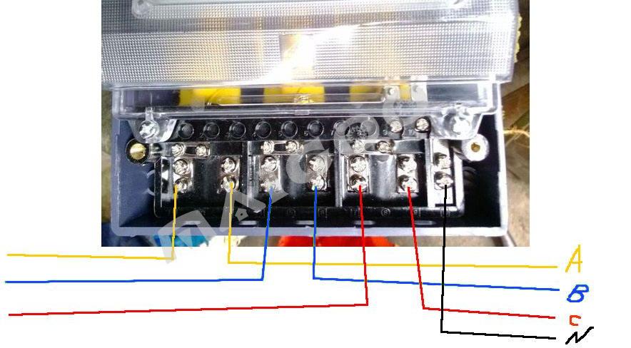 三相电表接线图 三相四线电表接法