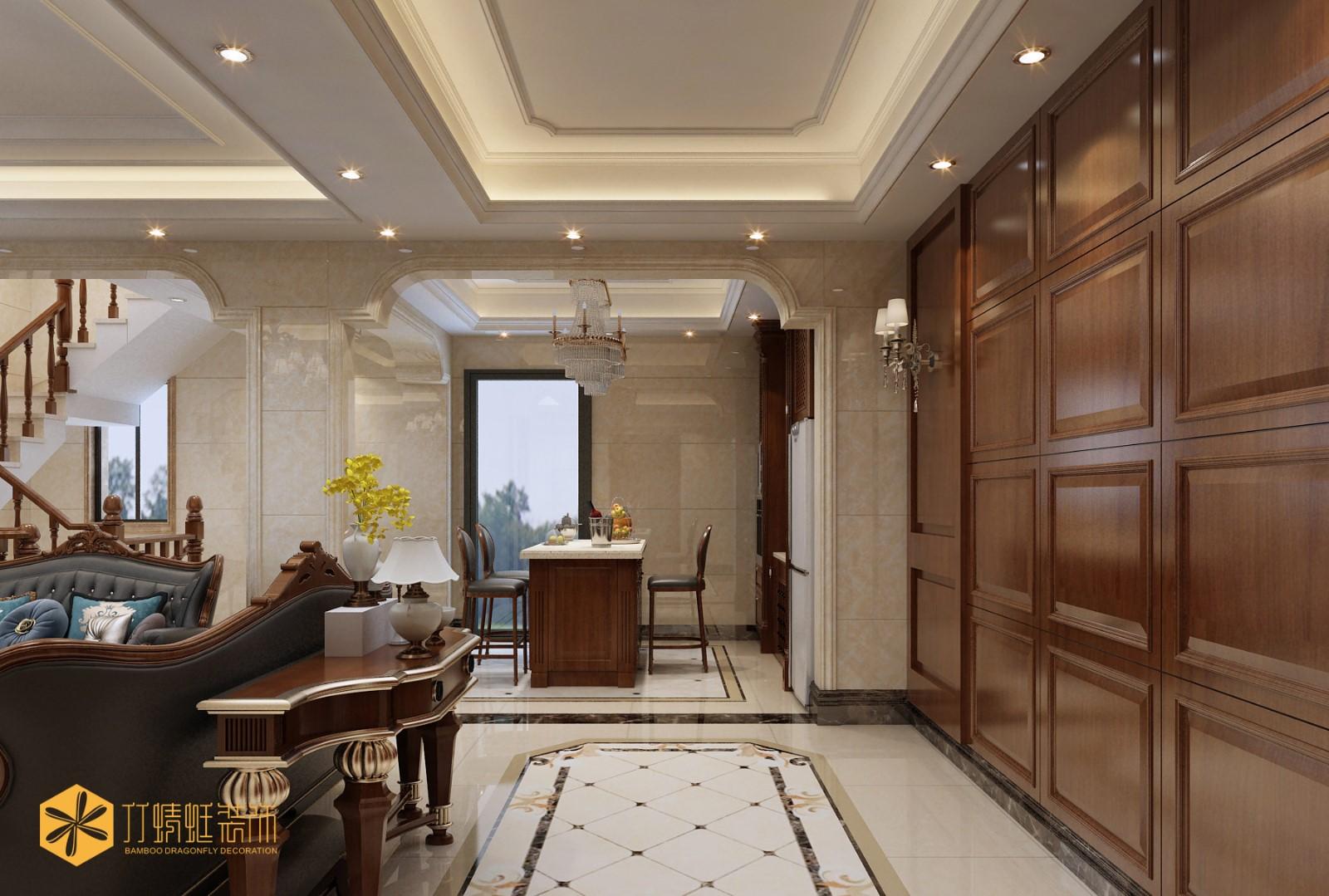 歐式風格別墅門廳裝修效果圖