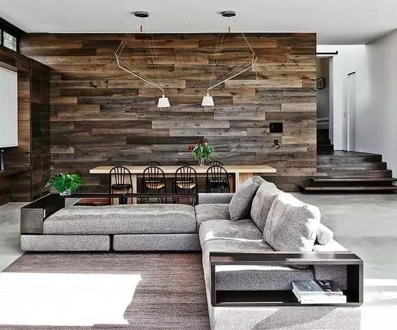 资讯 装修头条 自媒体 正文  木地板上墙可以广泛用在全屋,用在小空间