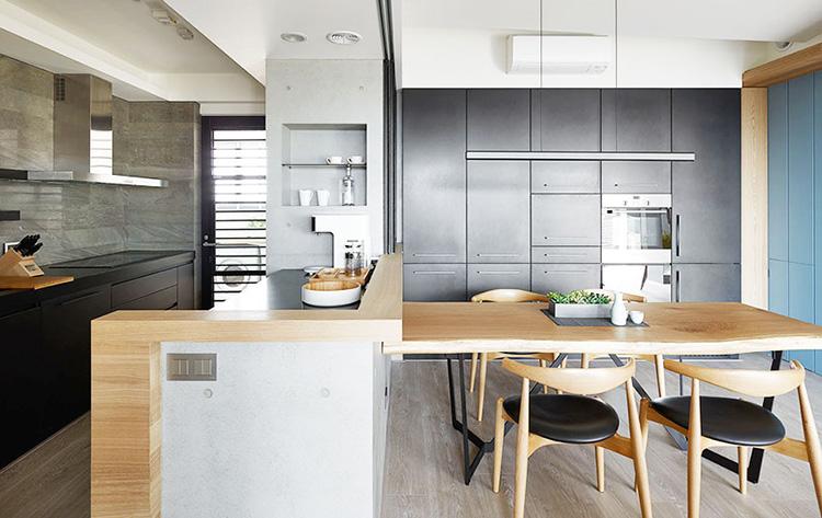 50平现代简约亲子宅厨房效果图