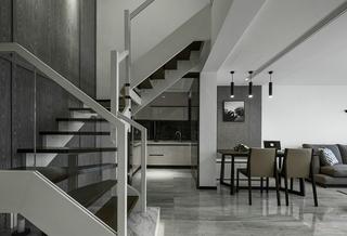 黑白灰格调别墅装修楼梯图片
