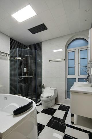 天马行空的现代简约风格卫浴间效果图