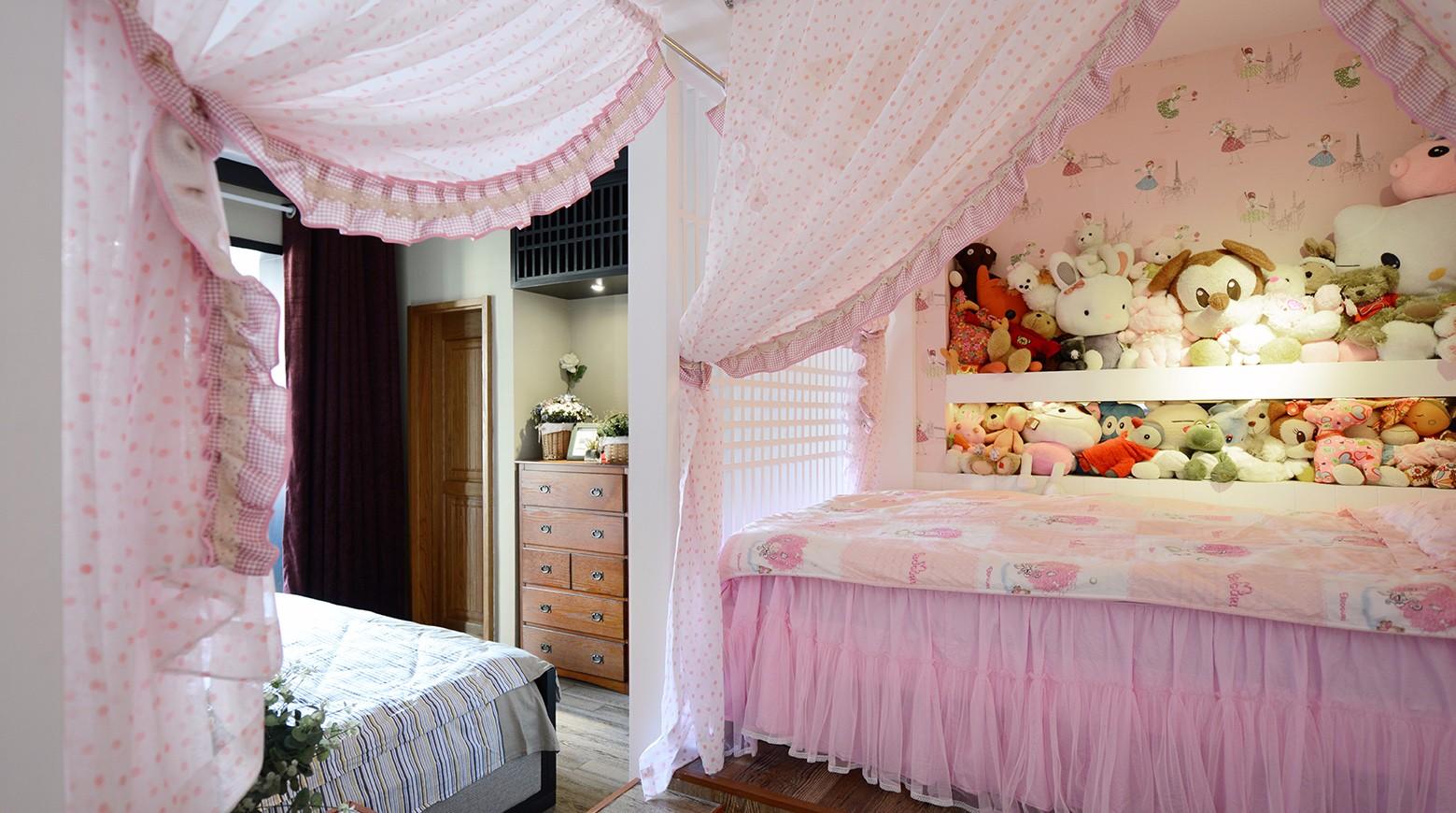 粉色系女兒房裝修效果圖