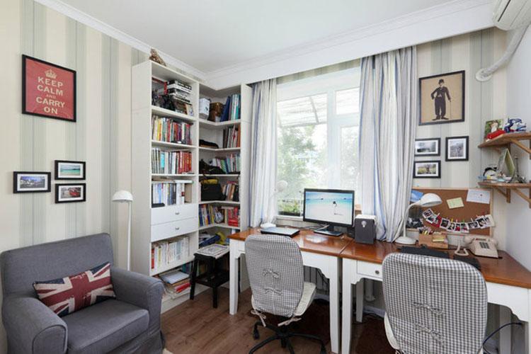 田园风格小户型书房设计图