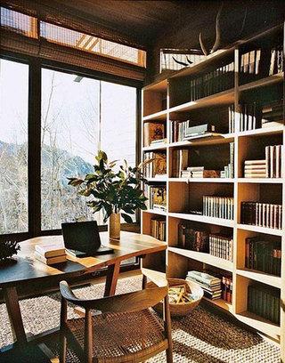 温暖阳台书房装修图片