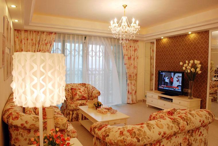 欧式田园电视背景墙装修设计