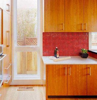 有食欲的红色厨房墙砖欣赏图
