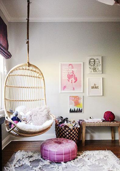 小客厅吊椅装修实景图