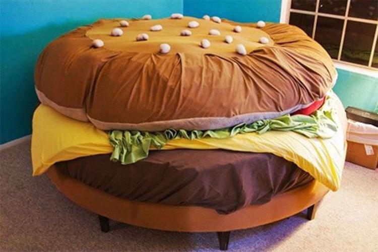 创意汉堡床图片