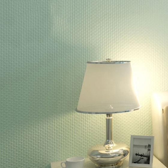 纯色素色卧室壁纸装潢图