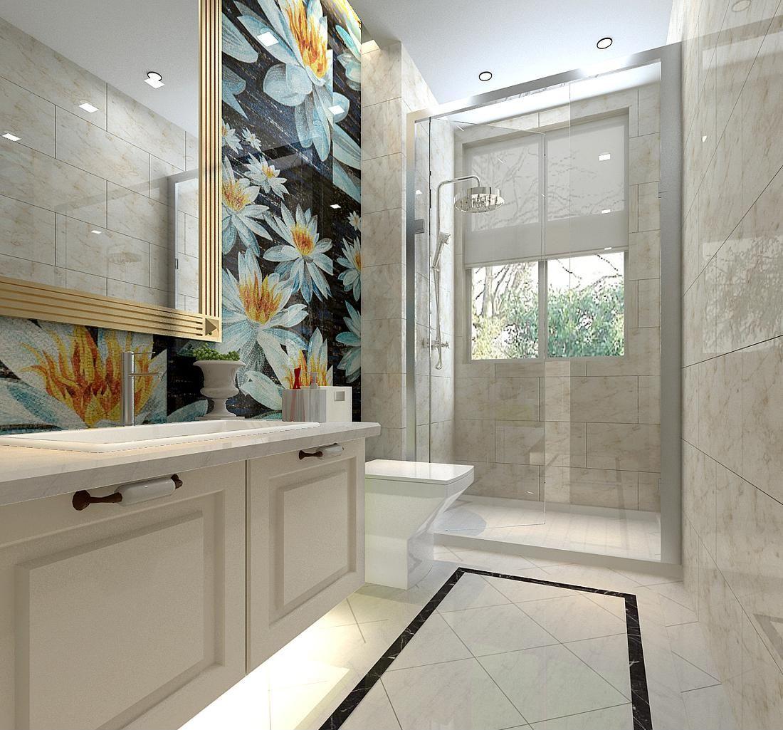 卫生间地砖效果图 时尚实用两不误的卫生间设计