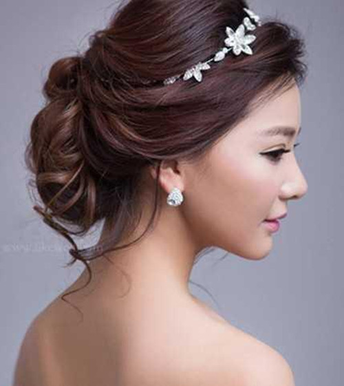可爱新娘发型图片欣赏 2017五款流行的可爱新娘发型