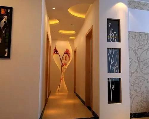 走廊吊顶装修效果图 美美的走廊会给人留下很好的印象图片