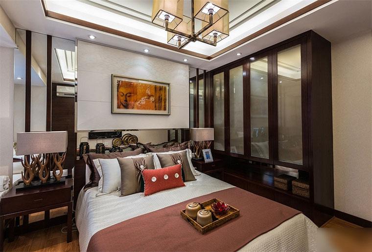 135平新中式风格三居室装修衣柜设计图