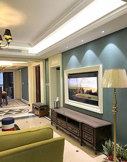 雅致美式风格客厅装修图