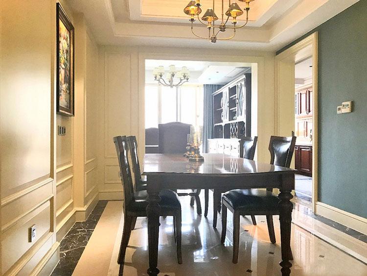 雅致美式风格装修餐桌图片