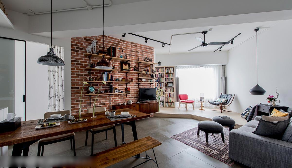 60平米工業風 一個文字工作者的自在空間 新聞動態-上海團宏建筑裝飾工程有限公司