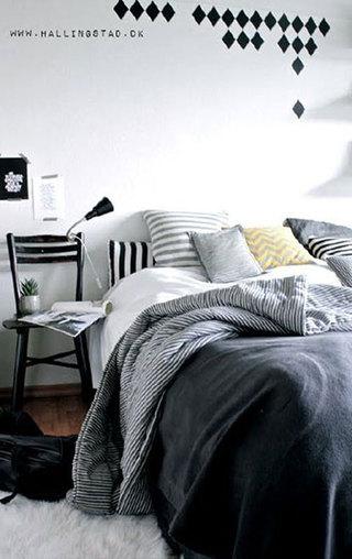 北欧风格卧室装潢图