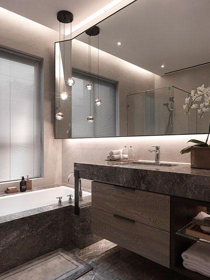 现代简约风格装修图片卫浴间效果图