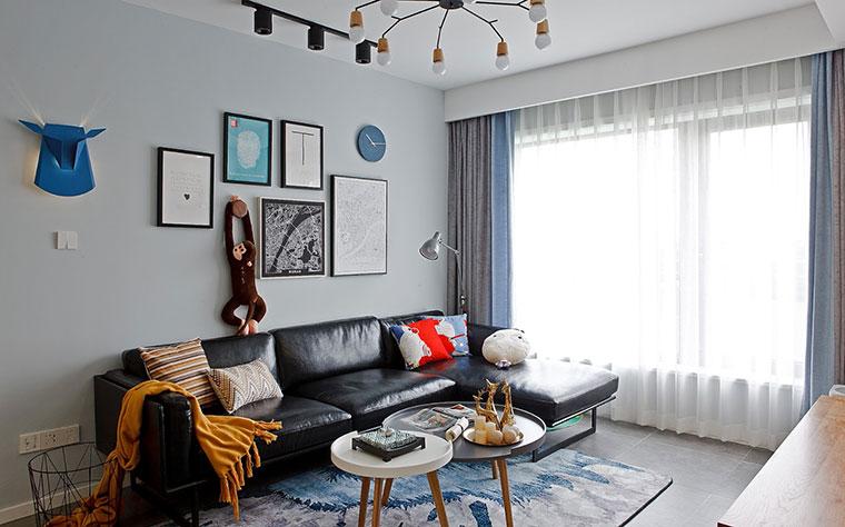 89㎡北欧风格装修沙发图片
