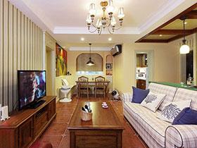 东南亚美式混搭三居室装修 惊艳你的视觉