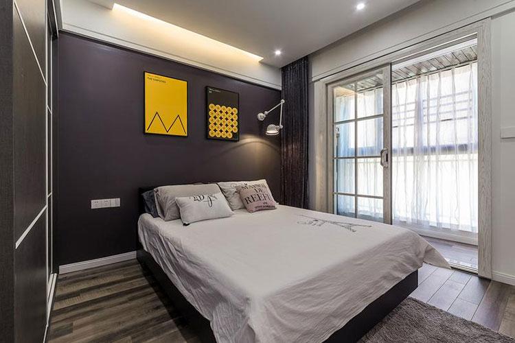 工业风二居室卧室装修图