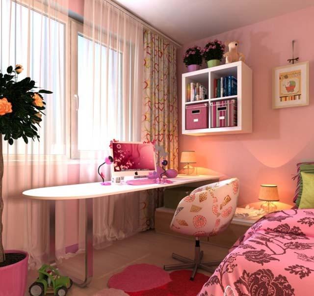 因居室空间的限制,小卧室可以考虑用高低床,小孩子可以住,也可以把另