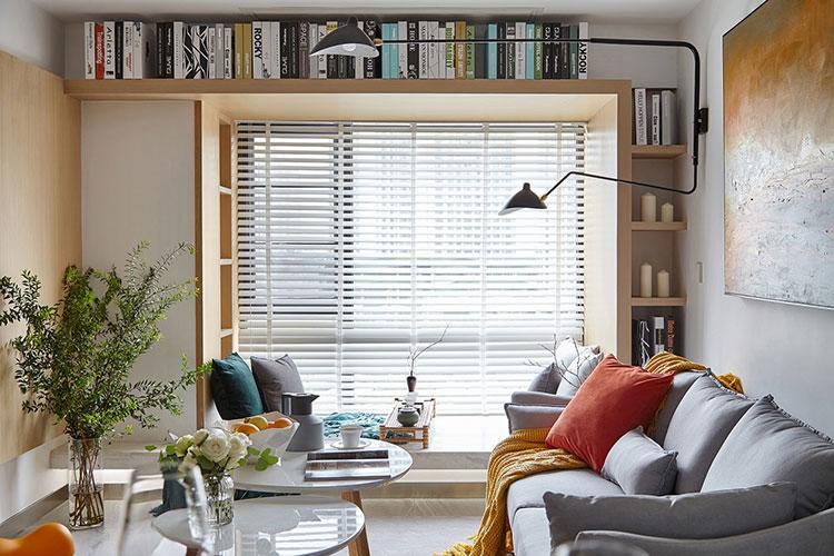 现代简约风格装修布艺沙发图片