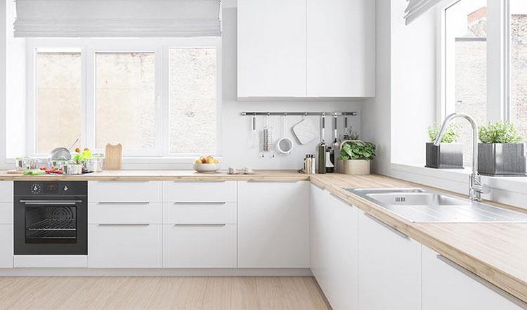 85平宜家风格清新两居室厨房装潢图