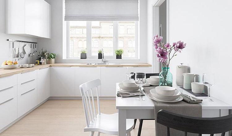 85平宜家风格清新两居室餐桌图片