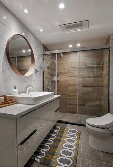 135平宜家风格三居室装修卫浴间效果图