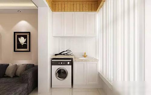【西安盛腾家装工厂店】阳台放洗衣机装修效果图 看完图片