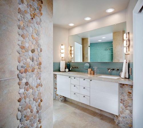 卫生间隔断墙装修效果图 这样的设计隔的好