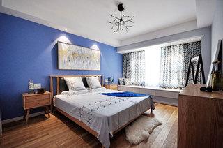 90平北欧风两室两厅卧室实景图