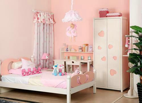 女孩房间装修效果图 打造你的粉色梦幻空间