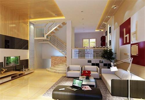 复式楼装修效果图 200平米现代复式楼装修体现奢华之感图片