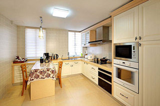 300㎡新中式风格别墅装修厨房装潢图
