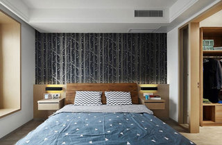 现代简约风格装修卧室背景墙图片