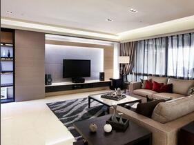 中性色都市现代三居室 气派的空间感