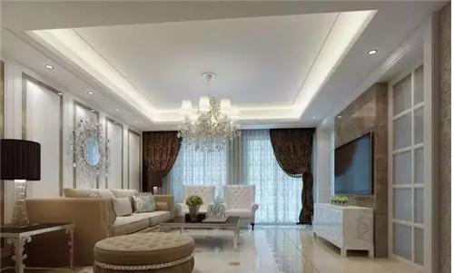客厅吊顶家装效果图 带您体验欧式的浪漫风情