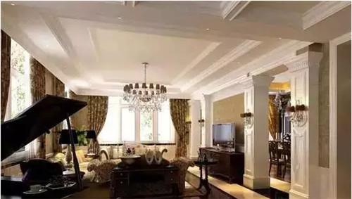 客厅吊顶家装效果图 带您体验欧式的浪漫风情图片