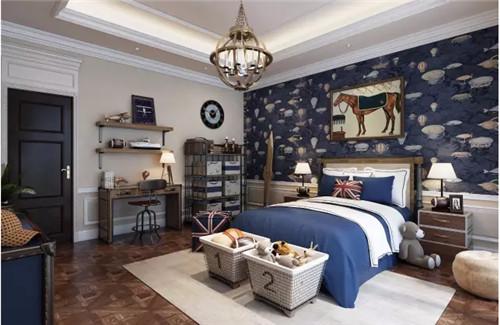 从图中可以看出,这款卧室设计非常简约,以白色作为卧室的主色,在配上